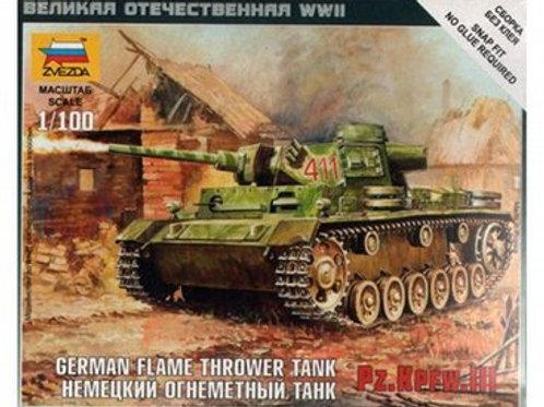 German Flame Thrower Tank PZ.KPFW III