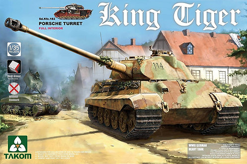 King Tiger Sd.Kfz.182 Porsche Turret (Full Interior)