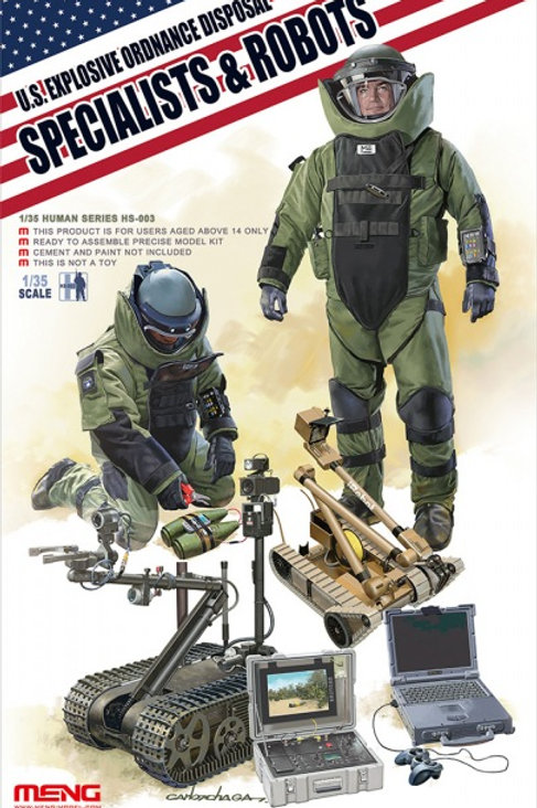 US Explosive Ordnance Disposal Specialist & Robot