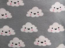 Wolken grau Fleece Meerschweinchen Fleecehaltung