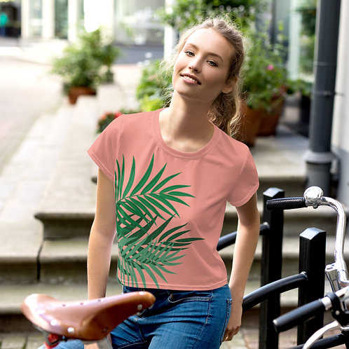 Large Palm Frond Crop Tee