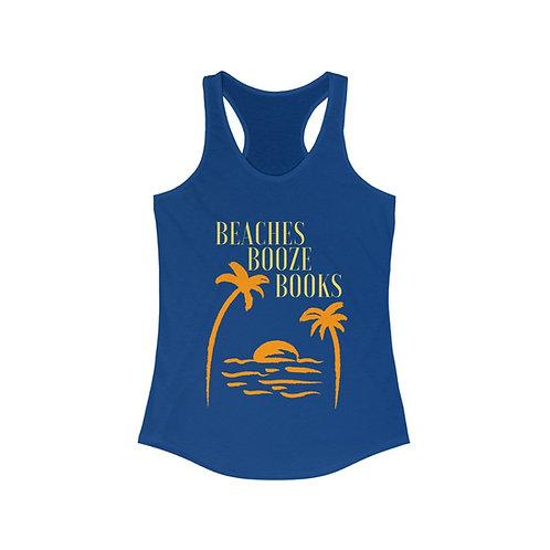 Beaches Booze Books Racerback Tank