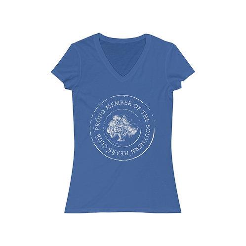 Southern Hearts Club Badge V-Neck Tee
