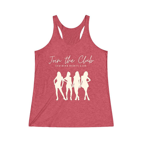 Join the Club Racerback Tank