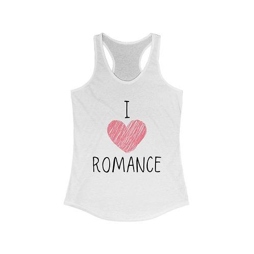 I Heart Romance Racerback Tank