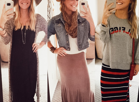 #FashionFuel  HOW TO: Transition your summer MAXI DRESSES & SKIRTS to fall