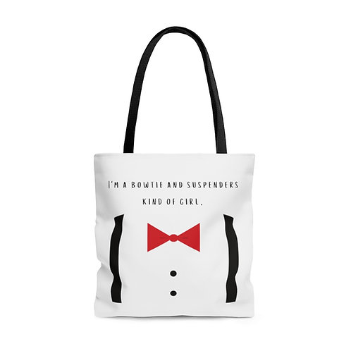 Bowtie and Suspenders Tote Bag