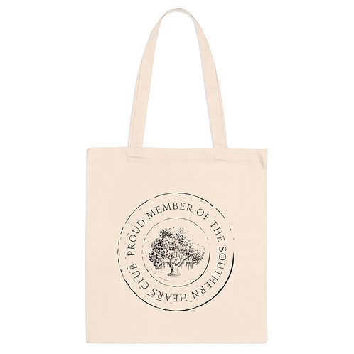 Southern Hearts Club Badge Tote Bag