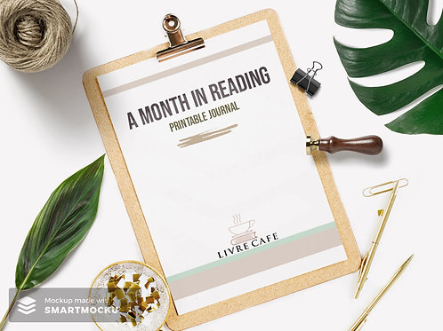"""A Month in Reading"" Printable Reading Journal"