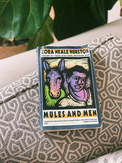 """""""Mules and Men"""" by Zora Neale Hurston Paperback"""