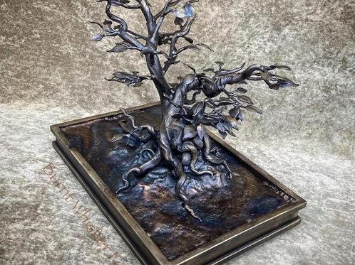 Hand Forged Iron Bonsai Tree