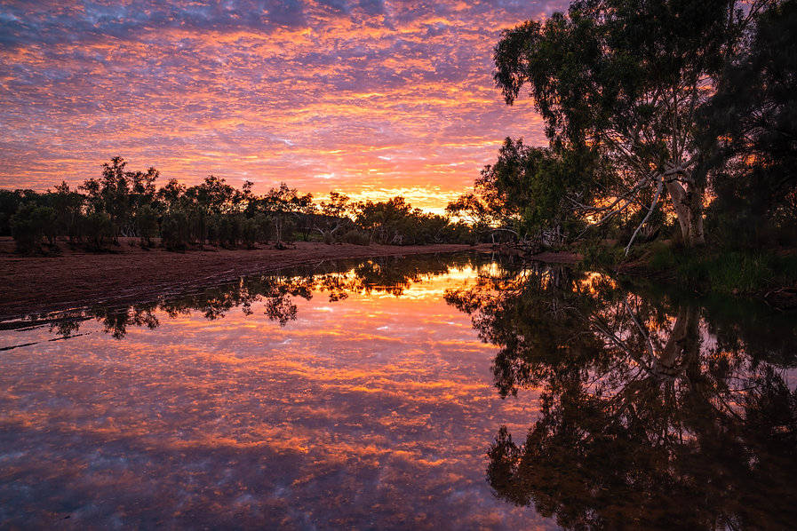 Calm conditions mixed with an amazingly colourful sky - I'm so happy I set the alarm and captured this stunning Pilbara sunrise!