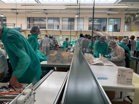 Lancement de l'usine de production de masques Sérénité Protection Santé