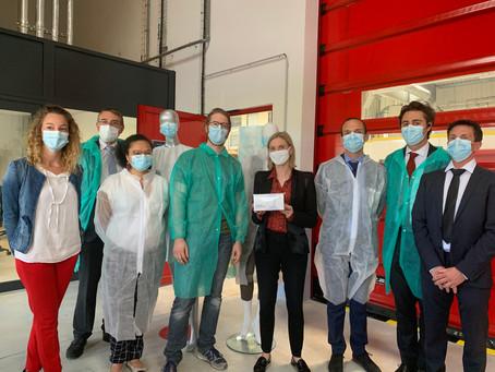 Usine Sérénité Protection Santé : visite d'Agnès Pannier-Runacher