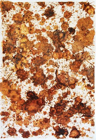 Chewing betel nut I & II (Mama Malus I & II), 2009. 55x36cm (x2), mixed media on paper