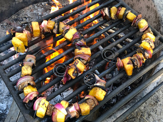 On a Stick: Teriyaki Portobello Kebabs