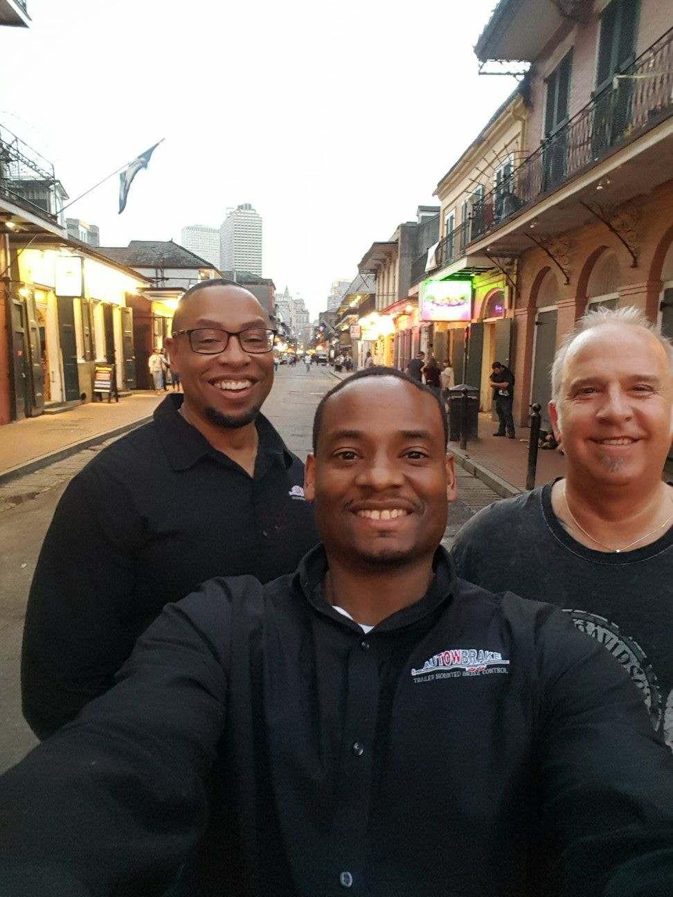The three main employees of Autowbrake, Carlton, Chris and Byron