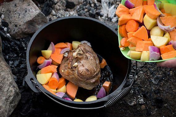 Boy Scout Chicken Packets, in a Dutch Oven