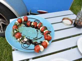 Cooking on a Stick: Grilled Caprese Kabobs