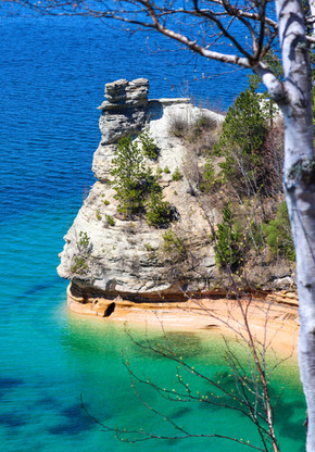 200 Foot Section of Cliff Falls into Lake Superior