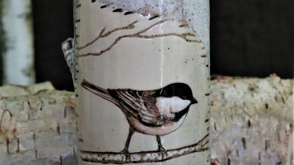 Chickadee Vase