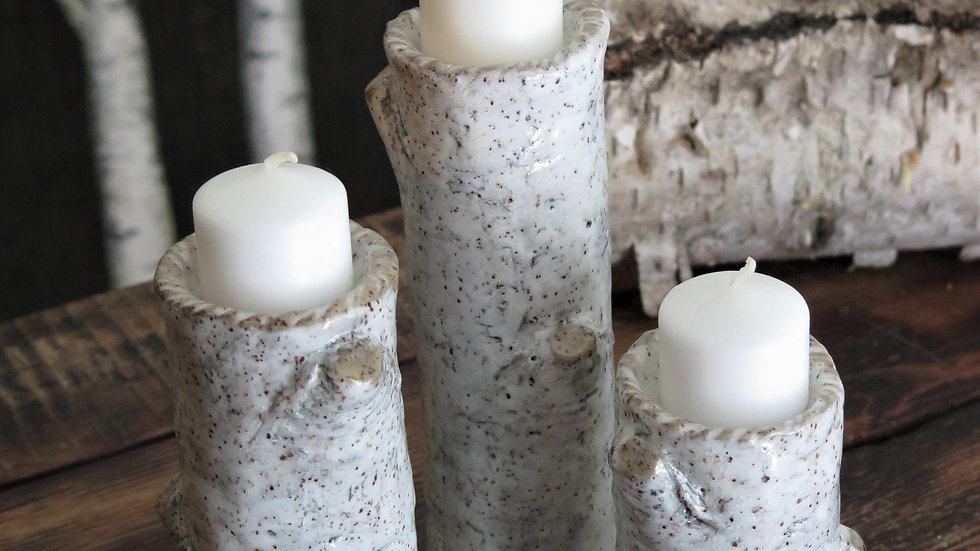 Tea Light Pillar Set