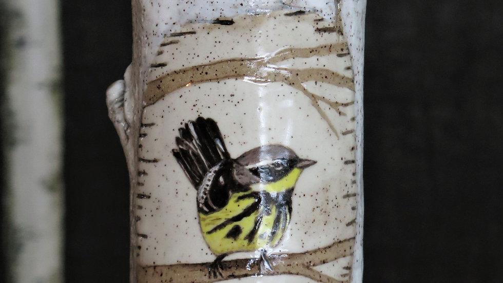 Magnolia Warbler Vase