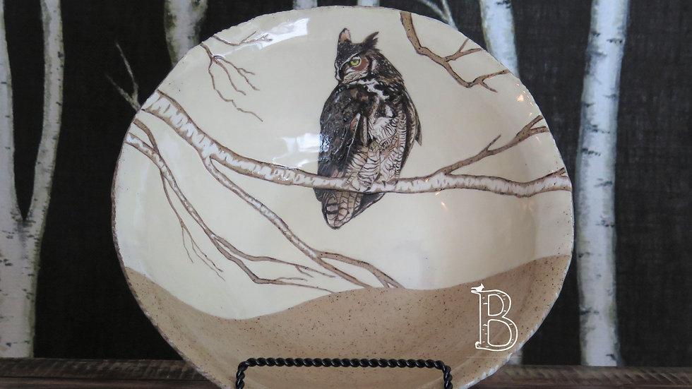 Great Horned Owl Bowl