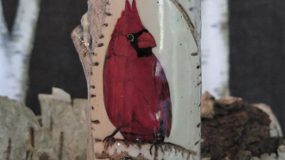 Cardinal Bud Vase