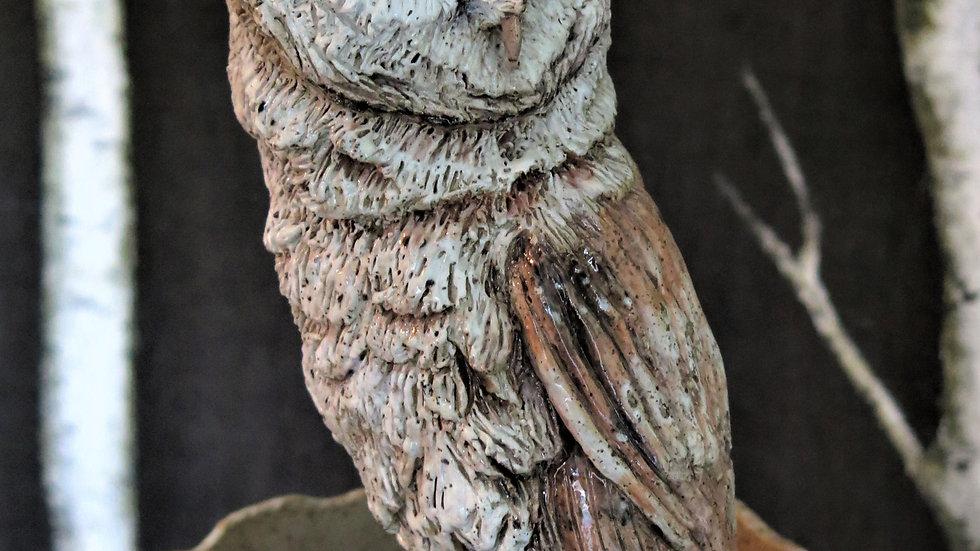 Barn Owl Vase