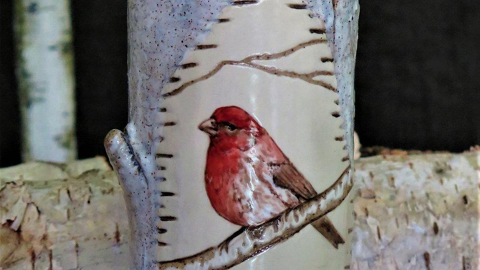 Purple Finch Vase