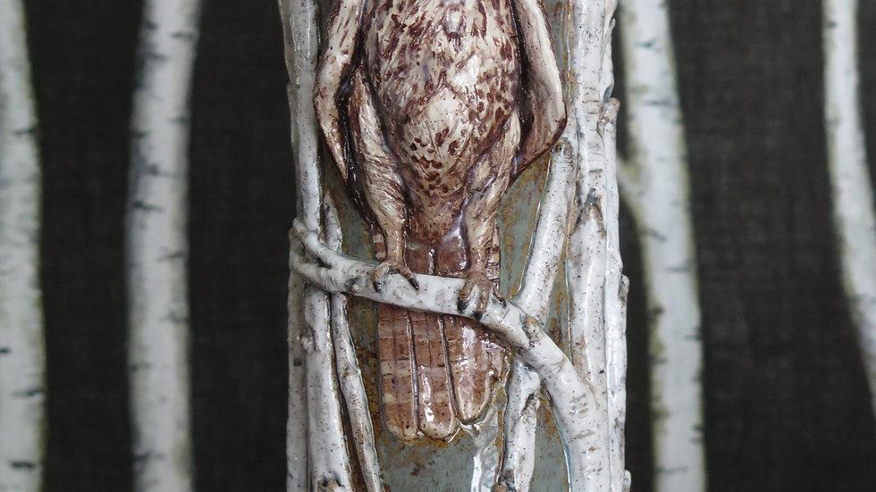 Arctic Grey Falcon Vase