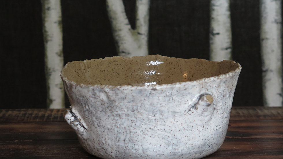 Birch ware tree nub bowl
