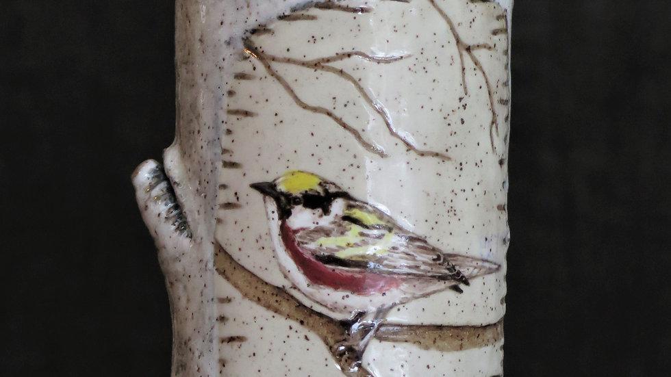 Chestnut Sided Warbler Vase L