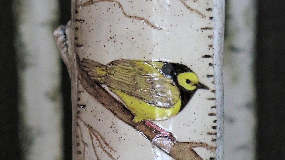 Hooded Warbler Vase