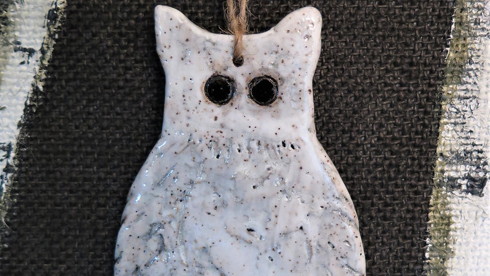 Owl Christmas Ornament Large