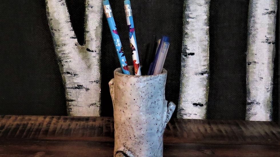 Small three nub birch bud vase