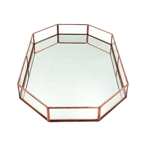 Rose Gold Octagon Tray