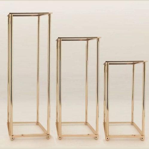 Gold Luxe Frame Plinths