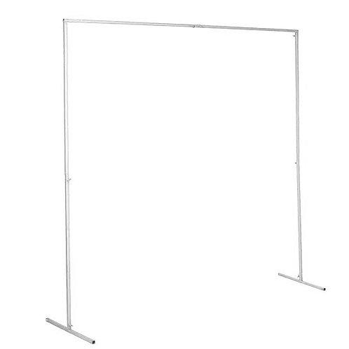 Square Metal Arch - White