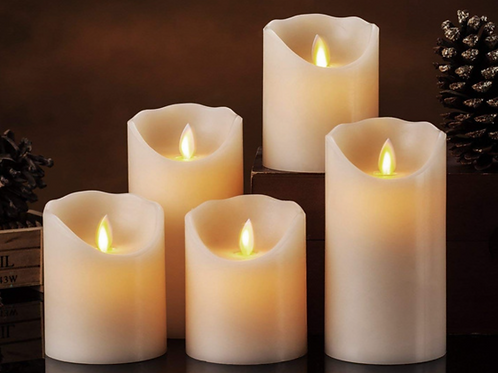 Cluster of  5 LED Candles