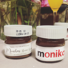 Custom Nutella Party Favours