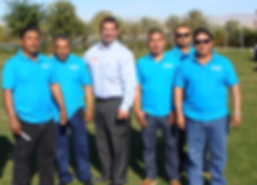 Front and center is CEO Bobby Melkesian. From left to right in the blue polo shirts are our foremen; Santiago, Artemio, Carlos, Frederico, and Armondo. They all have between 10 and 22 years of experience.