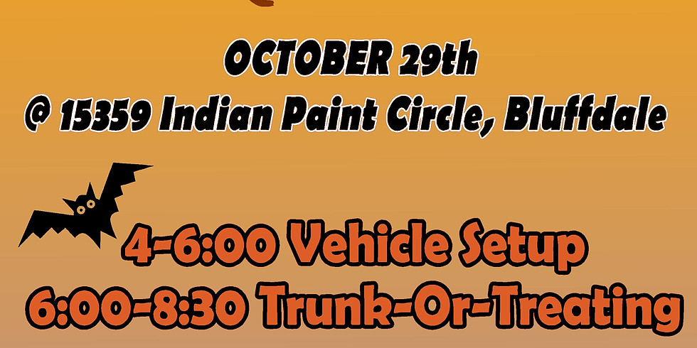 Trunk-or-Treat for Children and the Earth 2020