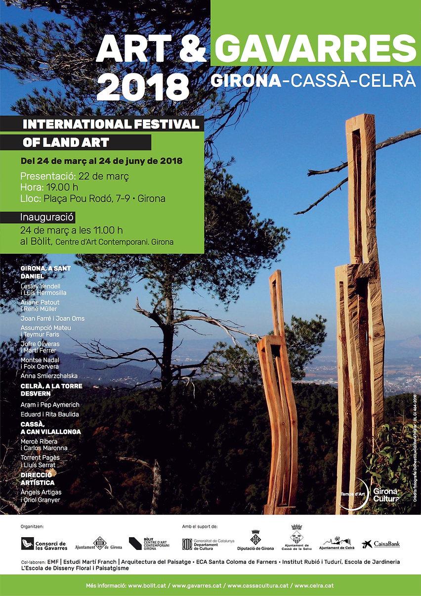 Wild Chairs de Domestic-Wil, Ariane Patout i René Müller, al festival Land Art_ Art i Gavarres_2018
