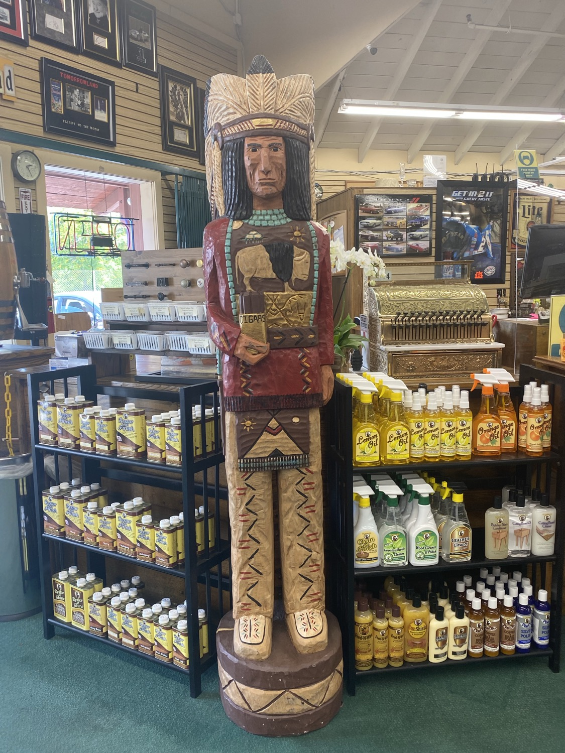 Thumbnail: G-Foot Authentic F Gallagher cigar store Indian