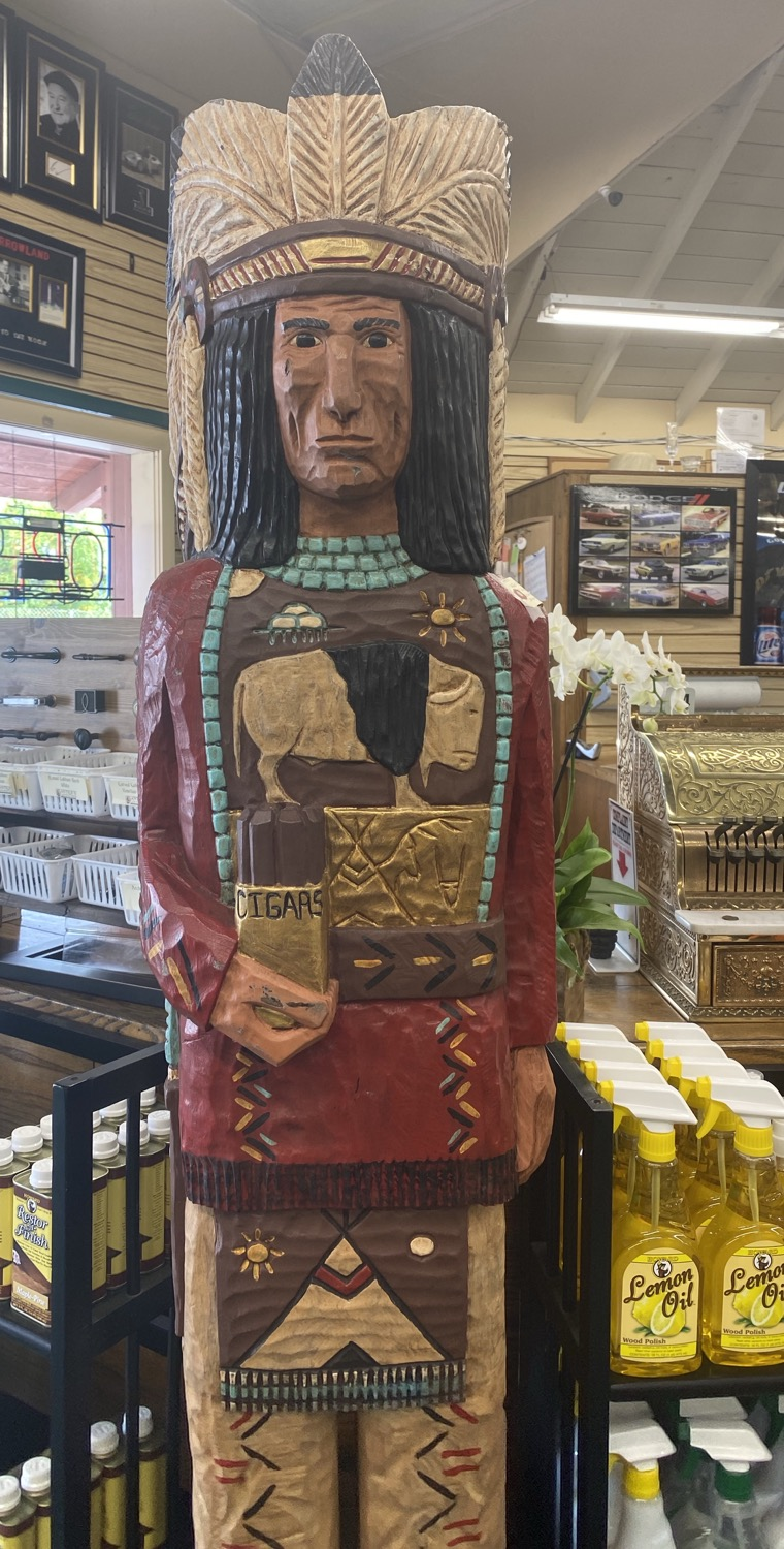 G-Foot Authentic F Gallagher cigar store Indian
