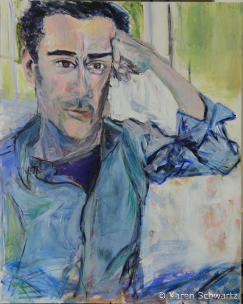 John in Blue