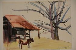 Cow Barn, Winter