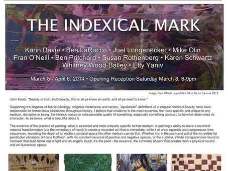 The Indexical Mark at Life on Mars Gallery in Brooklyn through April 6, 2014